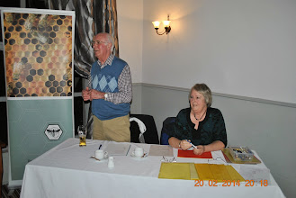 Photo: Quiz Master, Jim Toland and his assistant Jo Toland.