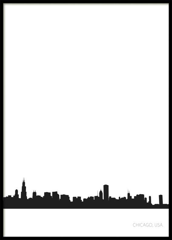 Chicago Stadssiluett, Poster