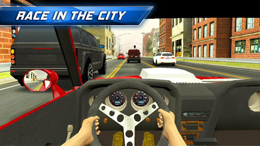 Racing in City - Car Driving captures d'u00e9cran 1