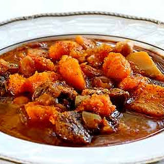Spicy Lamb Stew with Butternut Squash.
