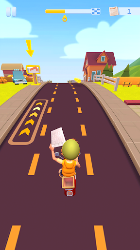 Deliveryman: Fun 3D Motorcycle Racing Game androidiapk screenshots 1