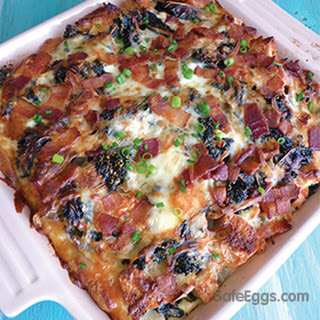 Kale, Bacon, and Cheese Strata
