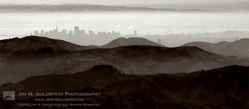 Photo: San Francisco and Marin Headlands Atmospheric perspective adding a bit of interest to the view of the Marin Headlands, Golden Gate Bridge and San Francisco Skyline. This was taken from Mt. Tamalpais in Marin.  Here's a quick link to learn a bit more about Atmospheric perspective: http://www.jmg-galleries.com/blog/2007/03/21/photo-term-series-post1-aerial-perspective-disambiguation/