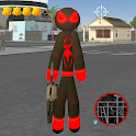 Stickman Spider Rope Hero - Gangster Crime City icon