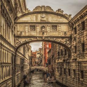 Bridge of Sighs by Angela Higgins - Buildings & Architecture Bridges & Suspended Structures ( bridge of sighs, venice )