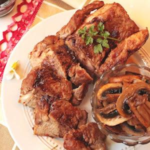 Pork Tenderloin with Mushrooms