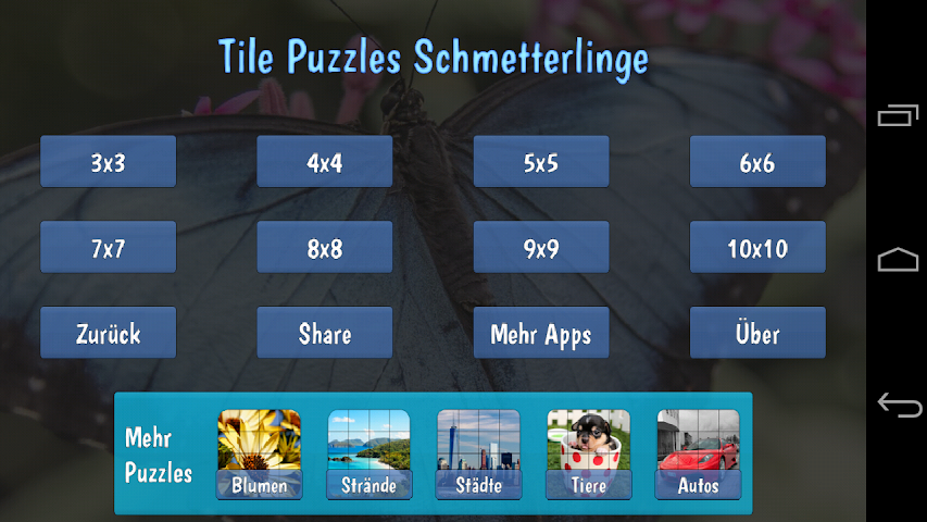 android Tile Puzzles · Butterflies Screenshot 3