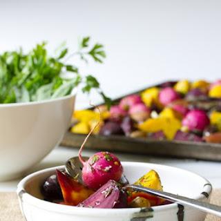 Steamed Root Vegetables.