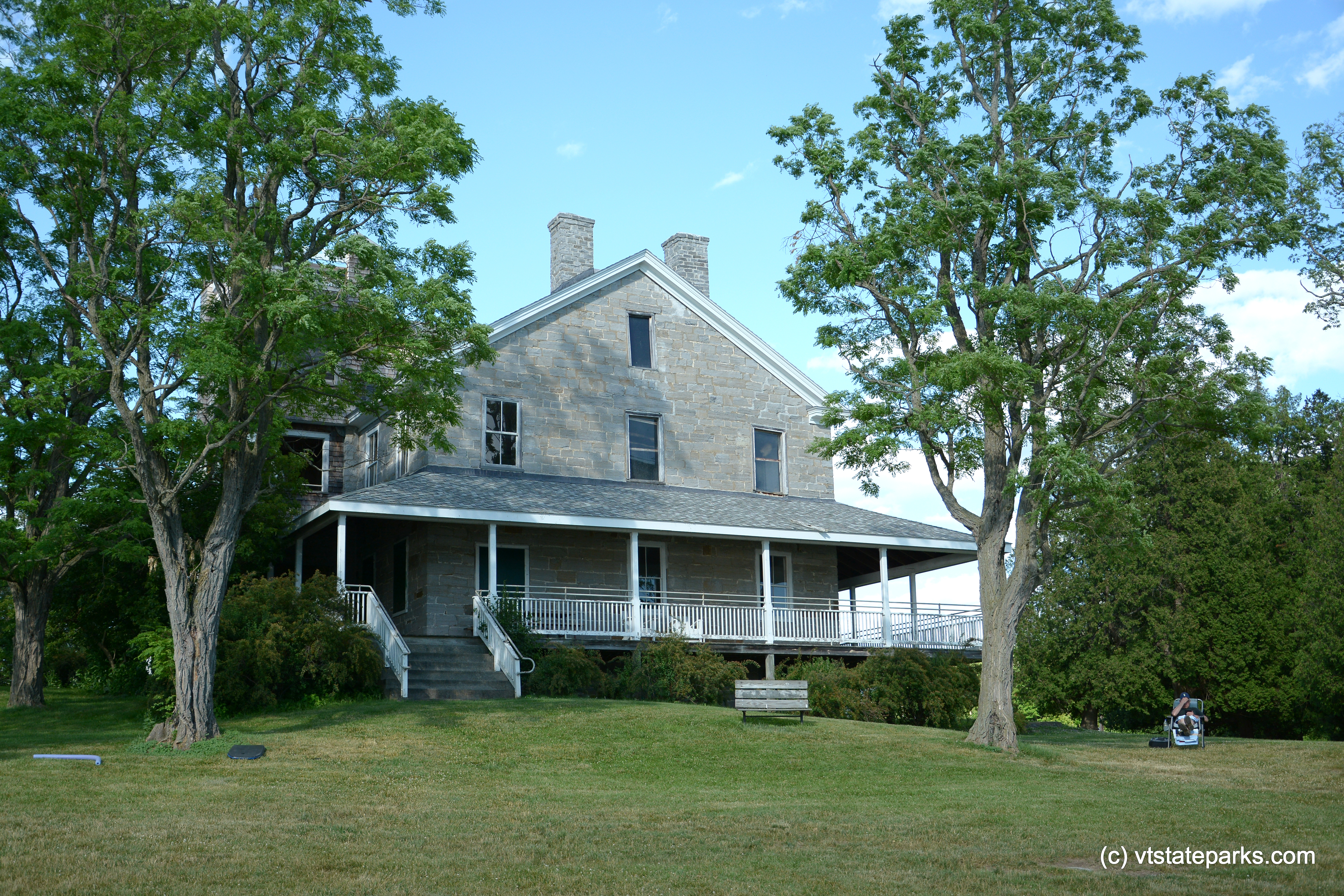 Photo: Exterior view of the Hawley House at Kingsland Bay State Park by Gary Bouchard