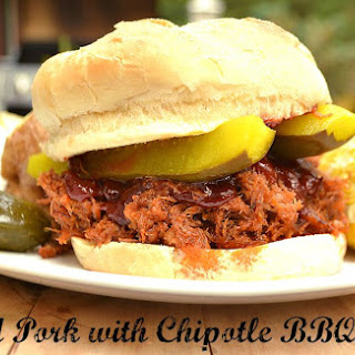 Pulled Pork Roast with Homemade Chipotle Barbeque Sauce.