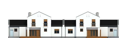 Kasjopea z garażem 1-st. bliźniak A-BL2 - Elewacja tylna