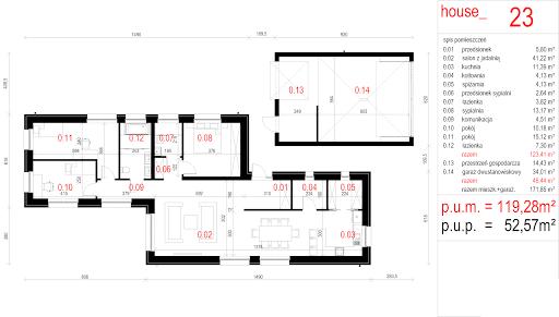 House 23 - Rzut parteru