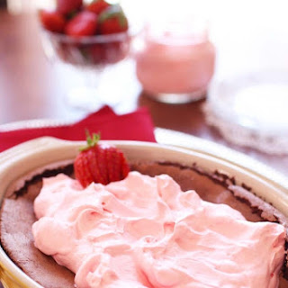 Flourless Chocolate Cake For Two With Strawberry Whipped Cream