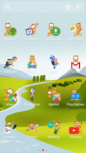 Garfield Sports-Solo Theme скачать на планшет Андроид