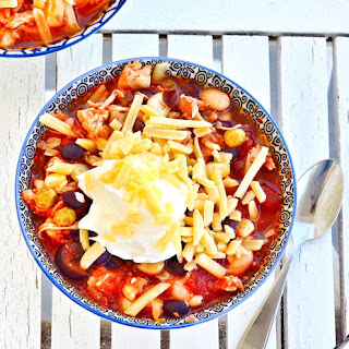 The BEST Healthy Crock Pot Chicken Chili