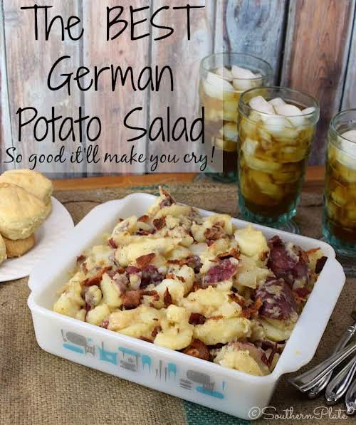 "The Best German Potato Salad ""Y'all, I'm not kidding with the title..."