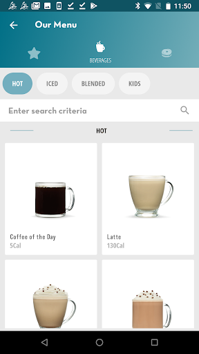 Screenshot for Caribou Coffee in United States Play Store