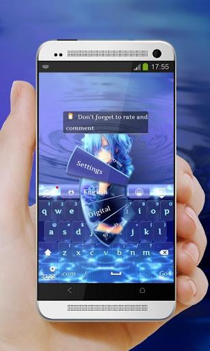 玩免費個人化APP|下載藍眼睛 GO Keyboard app不用錢|硬是要APP