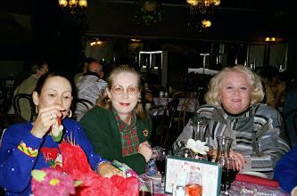 Photo: Christmas 1998. Nancy (Seiler) McCarthy, Carolyn (McGill) Hoelscher, Rosemary (Worthy) Dooley