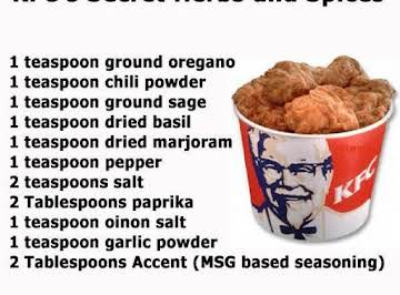 "KFC""sSecret and Spices"