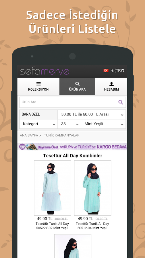 Sefamerve: Shopping for Muslim- screenshot