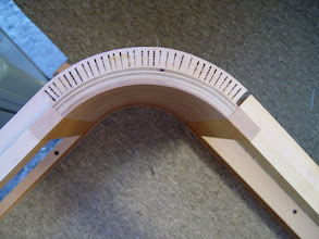 Photo: detail of curved sofa frame