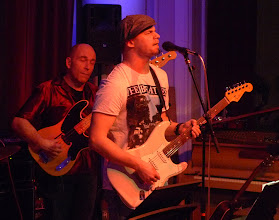 "Photo: Richard Tehler (guitar/vocals) and Conny Sävmo (bass) guesting FRENCH CONNECTION:  Drums: Tomas ""Daddy Tolsson"" / Vocals: Simon Lindenkrantz / Guitar: Henrik ""Pilen"" Pilquist / Bass: Michael Krönlein, Organ: Dan Helgesen"