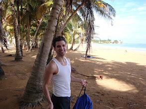 Photo: Josh on beach at Luquillo