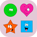Sort colored shapes icon