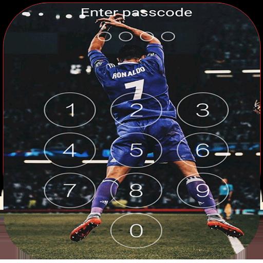 Keypad Lock Screen for C.Ronaldo 7 Free