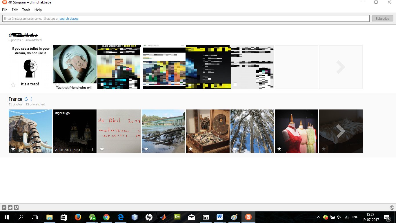 How to download Images and Videos of Any Instagram Account in a single click?