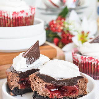 Cherry Jubilee Chocolate Cheesecakes