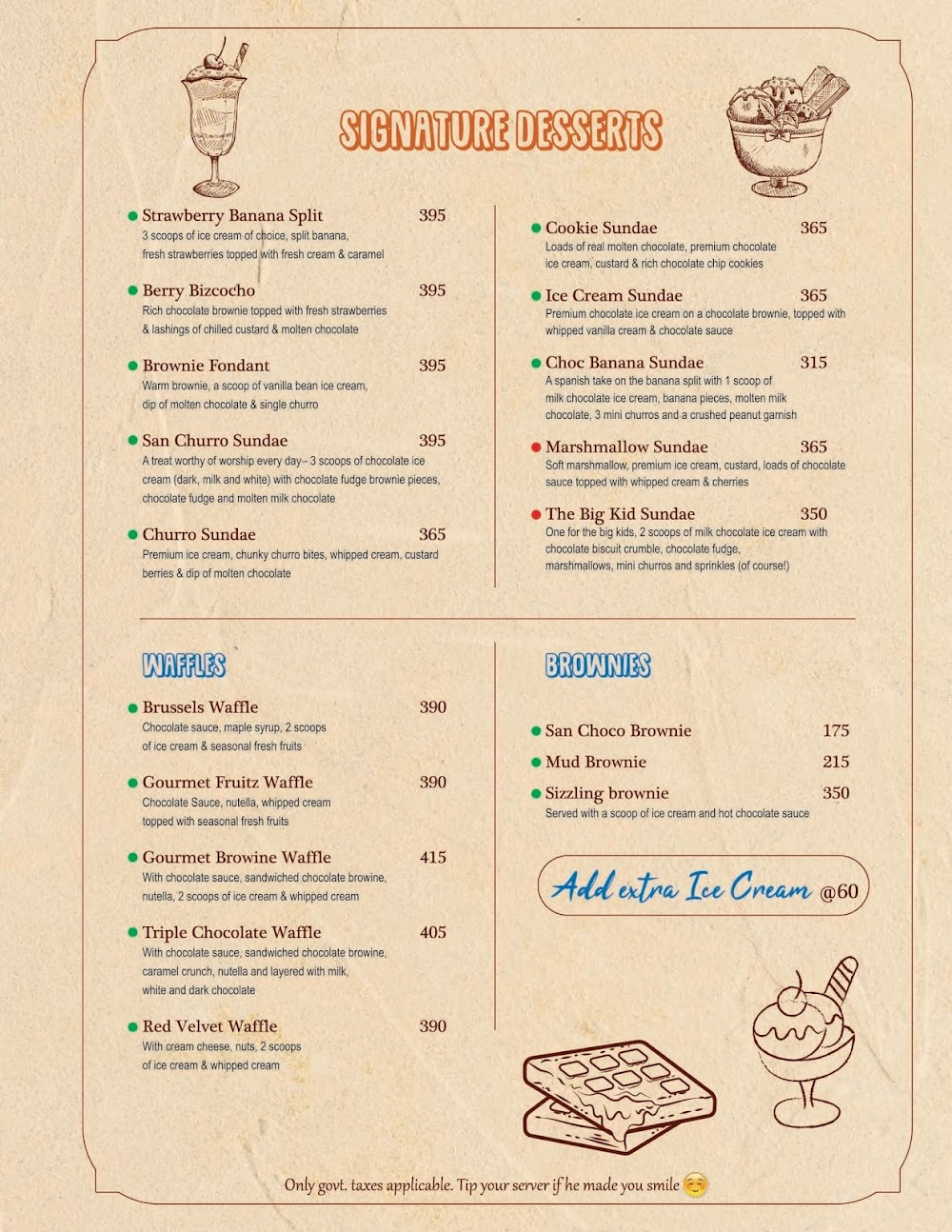 Chocolateria San Churro menu 5