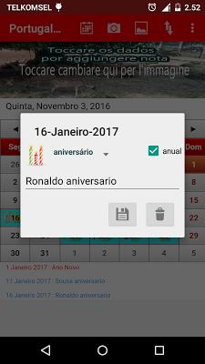 Portugal Calendário 2017 - screenshot
