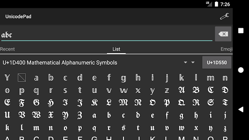Unicode Pad 2.8.0 Screenshots 4