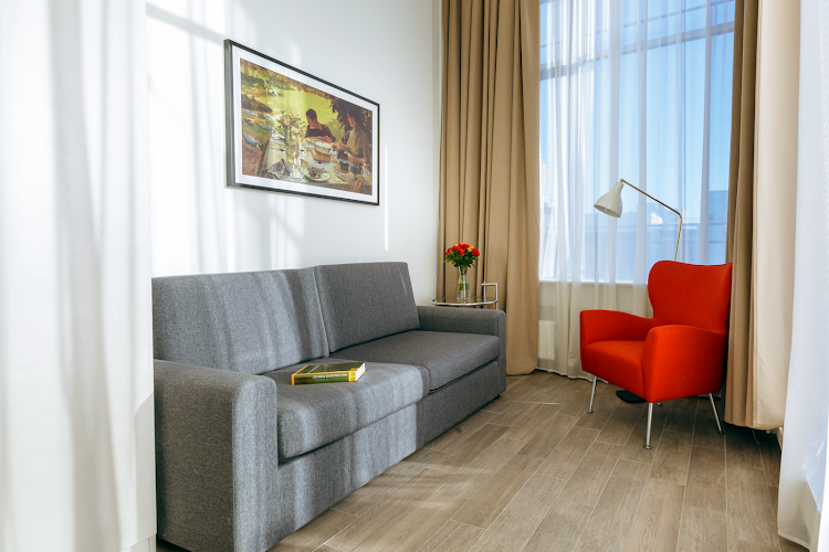 living space at Westendstrasse Apartments, Munich