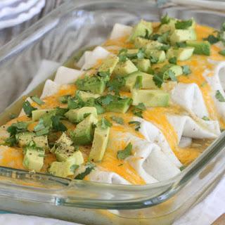 Baked Enchilada Style Bean Burritos Supreme