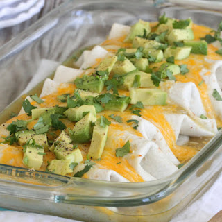Baked Enchilada Style Bean Burritos Supreme.