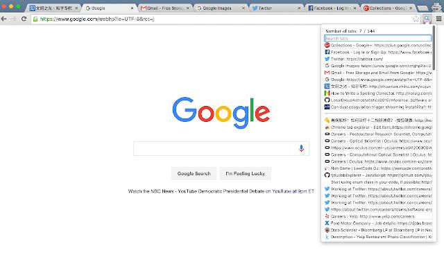 Chrome tab explorer