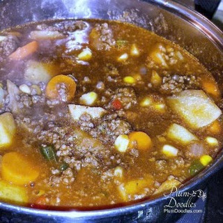 One Pot Cooking- Hamburger Soup