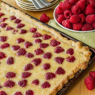 Raspberry Buttermilk Slab Pie.