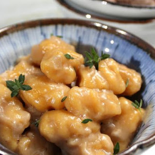Butternut Squash Gnocchi With Whiskey Cream Sauce