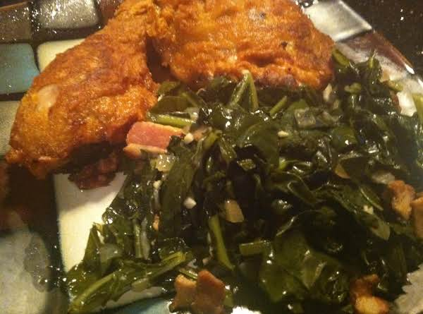 A Delicious Southern Side ...i Servd It With Buttermilk Fried Chicken With Spicy Honey Drizzle...which Btw Is A Great Recipe...enjoy :)