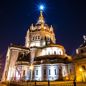 The Cathedral of St. Paul by Jeremy Jordan - Buildings & Architecture Places of Worship ( cathedral, full moon, nikon, lond exposure, st. paul )