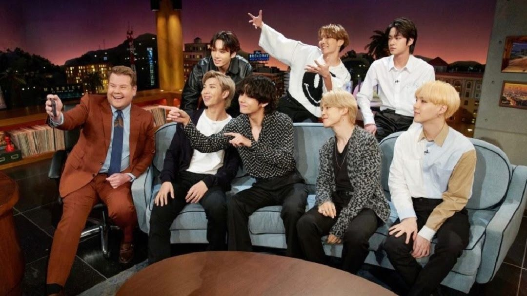 Bts on Late Late Show with james Corden