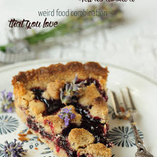 Black Currant and Lavender Pie.