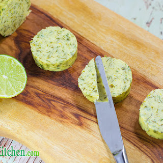 Cilantro & Lime Flavored Compound Butter.