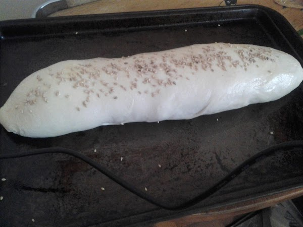 This is what it looks like before it is baked