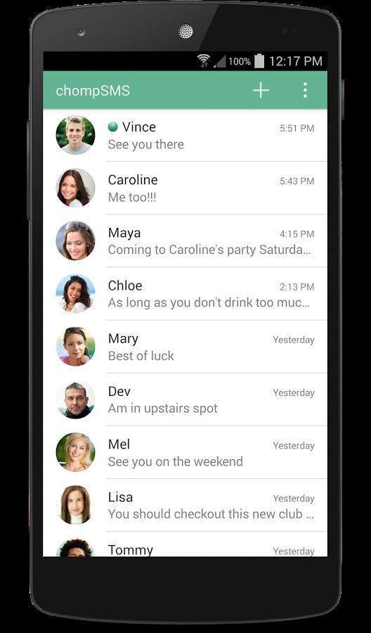 chomp SMS - screenshot