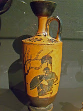 Photo: Achilles on an Attic vase .......... Achilles op een Attische Lekythos